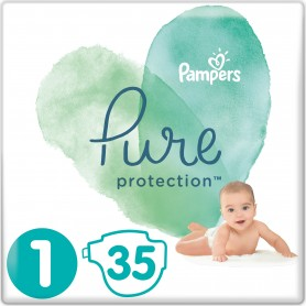 Pampers Pure Protection ( Размер 1 ) 35 шт