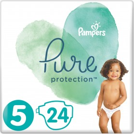 Pampers Pure Protection ( Izmērs 5 ) 24 gab