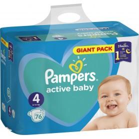 Pampers Active Baby Maxi ( Izmērs 4 ) 76 gab