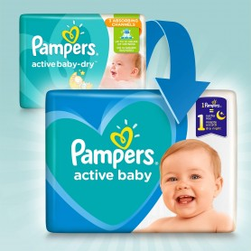 Pampers Active Baby Dry ( Izmērs 7 ) 15kg+ 112 gab Monthly Pack