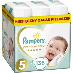 Pampers Premium Monthly Box ( Размер 5 ) 11-16кг 136 шт