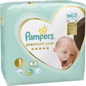 Pampers Care Newborn ( Izmērs 1 ) 2-5 kg 26 gab