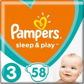 Pampers Sleep&Play ( Izmērs 3 ) Midi 58 gab