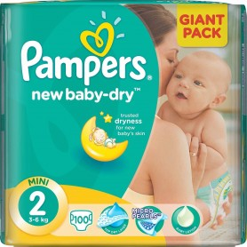 Pampers Active Baby Giant Pack ( Suurus 2 ) 4-8kg 100 tk