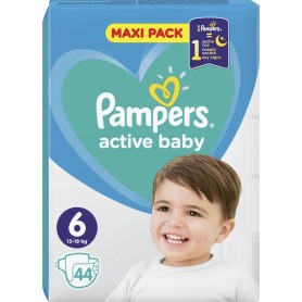 Pampers Active Baby Dry Maxi Pack ( Izmērs 6 ) 44 gab