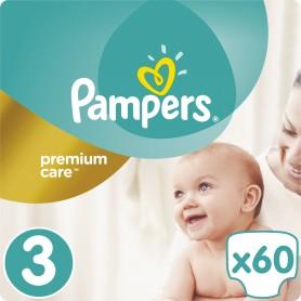 Pampers Premium Care ( Suurus 3 ) Midi 5–9 kg, 60 tk