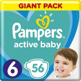 Pampers Active baby Extra Large ( Suurus 6 ) 56 tk