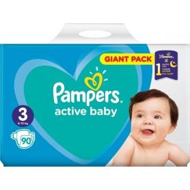 Pampers Active Baby ( Izmērs 3 ) Midi 6-10 kg 90 gab