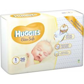 Huggies Elite Soft ( Izmērs 1 ) 26 gab