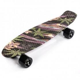 Skateboard Meteor Flowers Black
