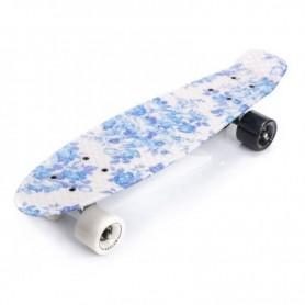 Skateboard Meteor Flowers White