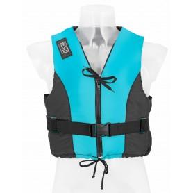 Bērnu glābšanas veste - peldveste Besto Dinghy 50N ar rāvējslēdzēju Aqua / Black