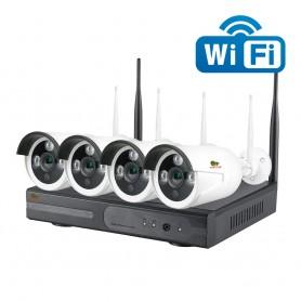 Outdoor Wireless Kit 4xIP 2MP Partizan