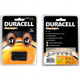 Velosipēdu priekšējā un aizmugurējā gaisma DURACELL 1 LED