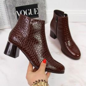 Women's shoes with snake skin Potocki