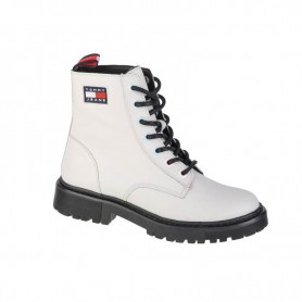 Sieviešu apavi Tommy Hilfiger Jeans Iridescent Eyelets Flat Boot
