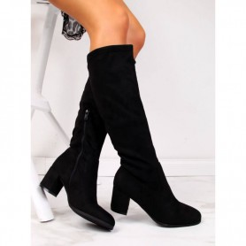 Women's shoes Vinceza insulated turn-up boots black