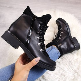 Women's shoes Leather boots with cubic zirconias Dolce Pietro