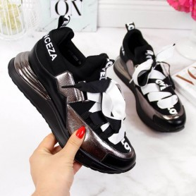Women's shoes Black Sneakers with Vinceza