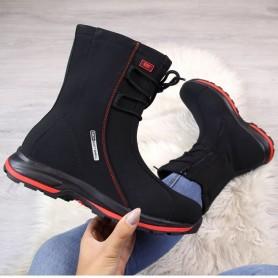 Women's shoes Waterproof DK black tied snow boots